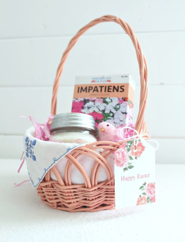 Pretty little Eastet basket for the perfect hostess gift.