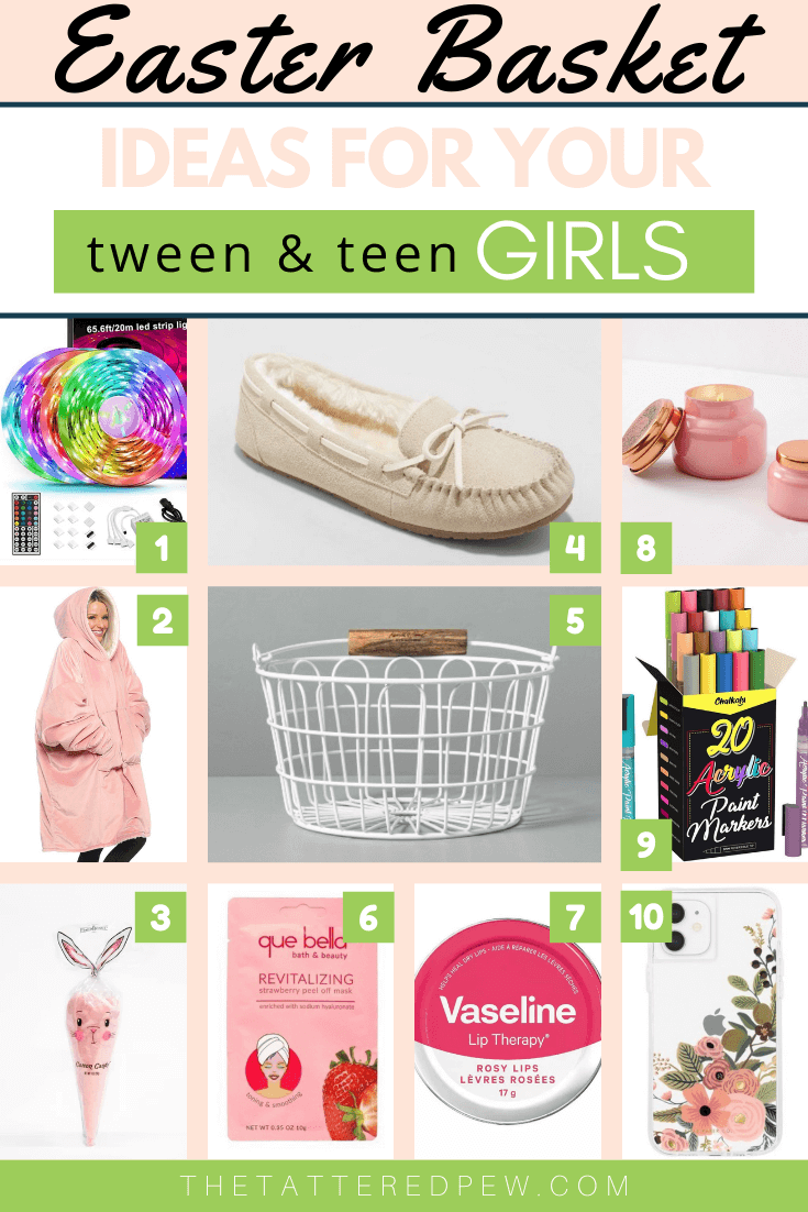 Fabulous Easter basket ideas for tween and teen girls!