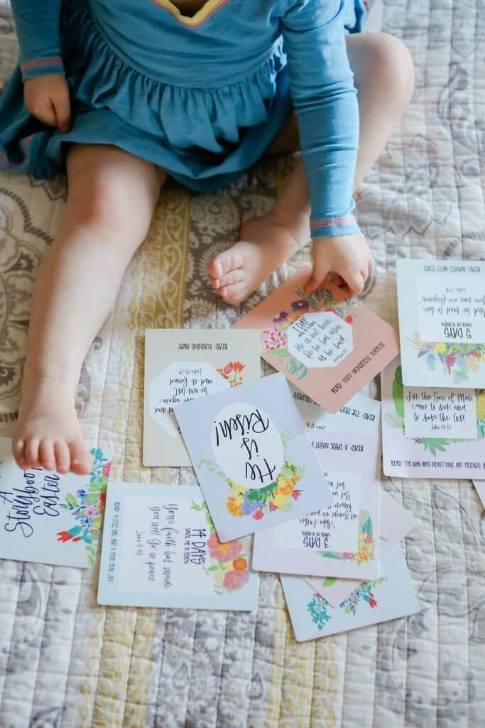 Looking for meaningful Easter ideas? Try these scripture cards from Crew + Co!