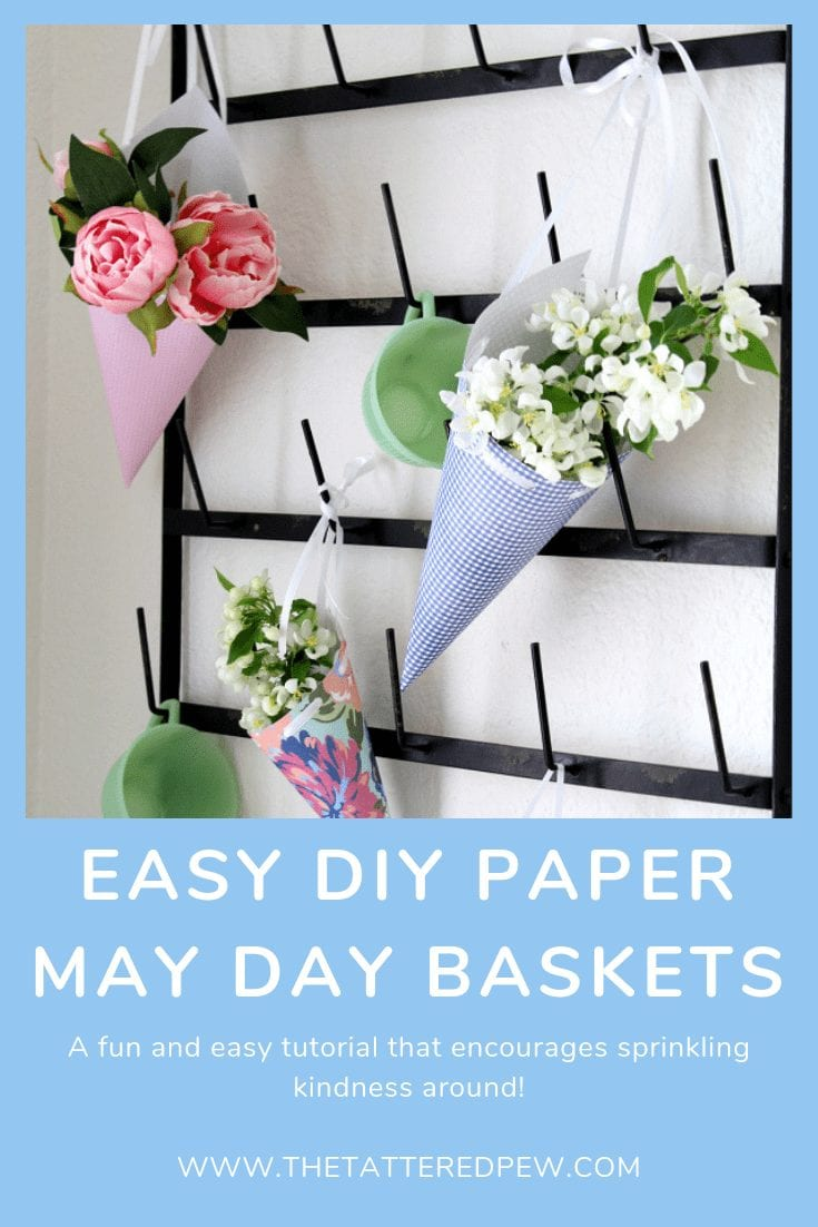 Sprinkle around some kindness by making these easy DIY paper May Day baskets!