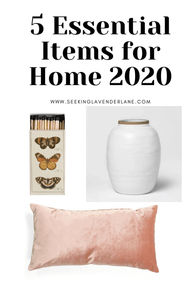 Welcome Home Sunday: Top 5 Essential Items for your home in 2020