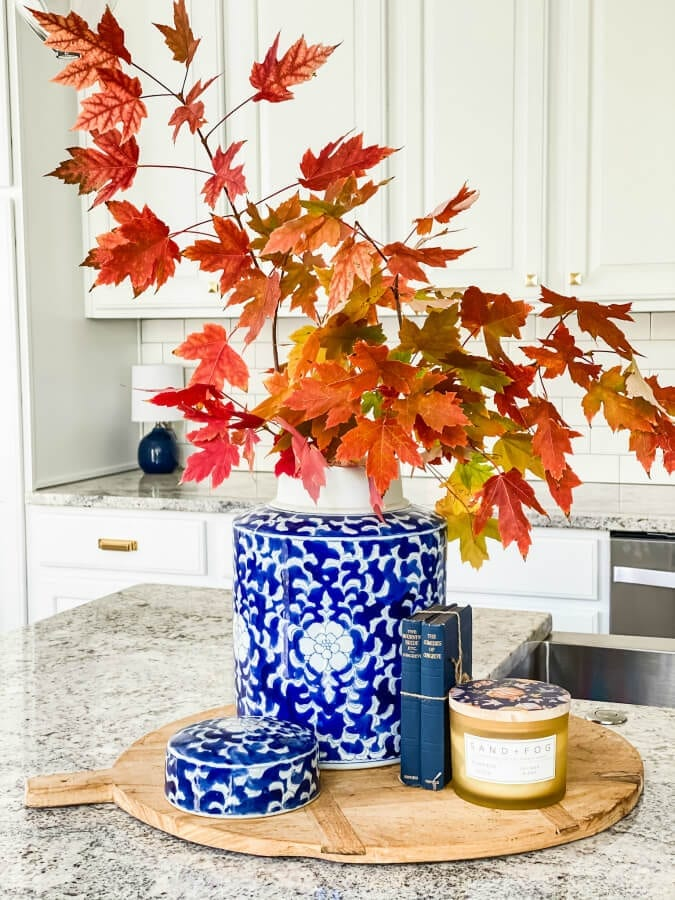Decorating our newly updated kitchen for Fall!