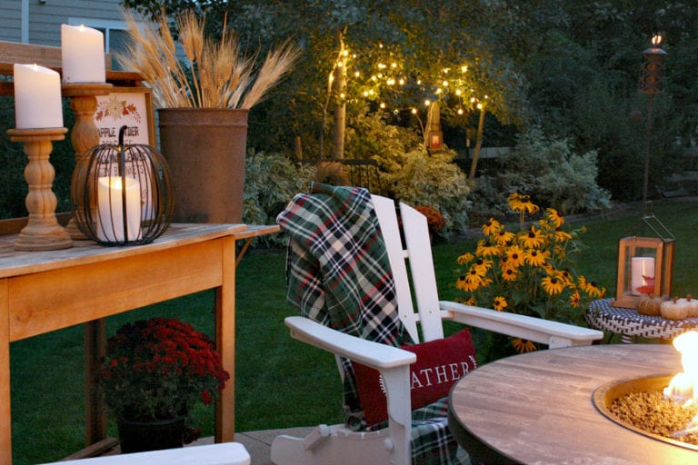 How to Decorate With Lights and Lanterns In Your Fall Outdoor Space