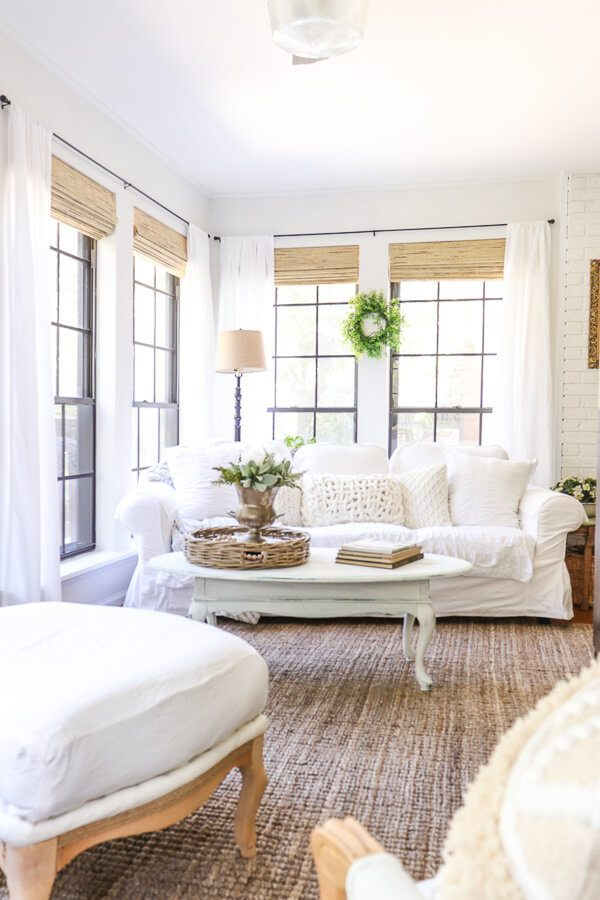 Welcome Home Saturday: Farmhouse Blinds and Updated Trim