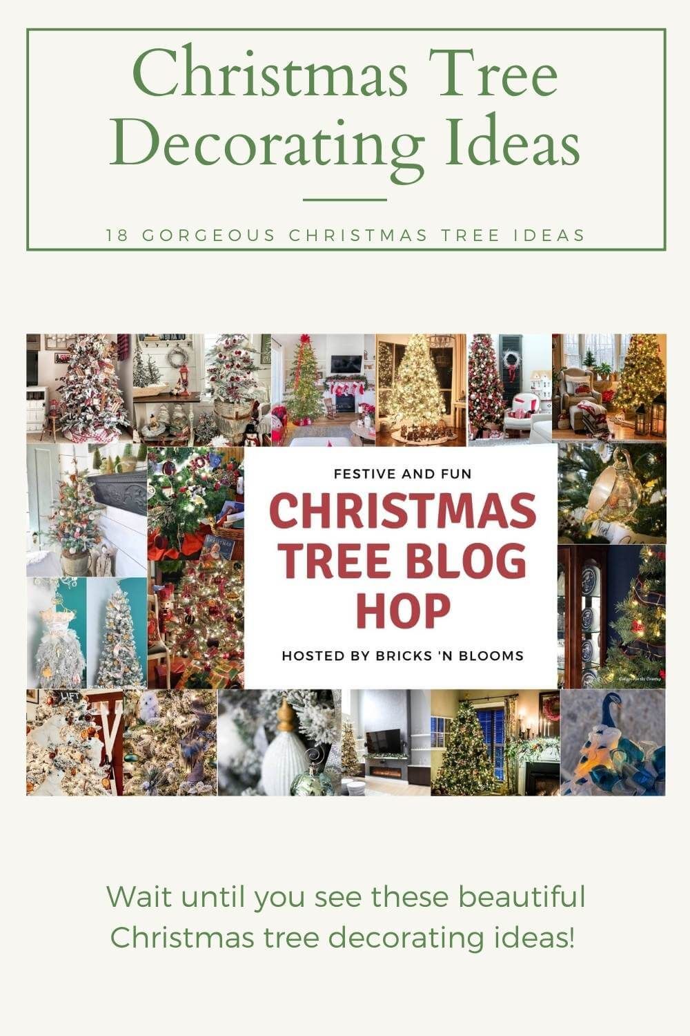 Festive and Fun Christmas Tree Blog Hop featuring 18 Different Trees