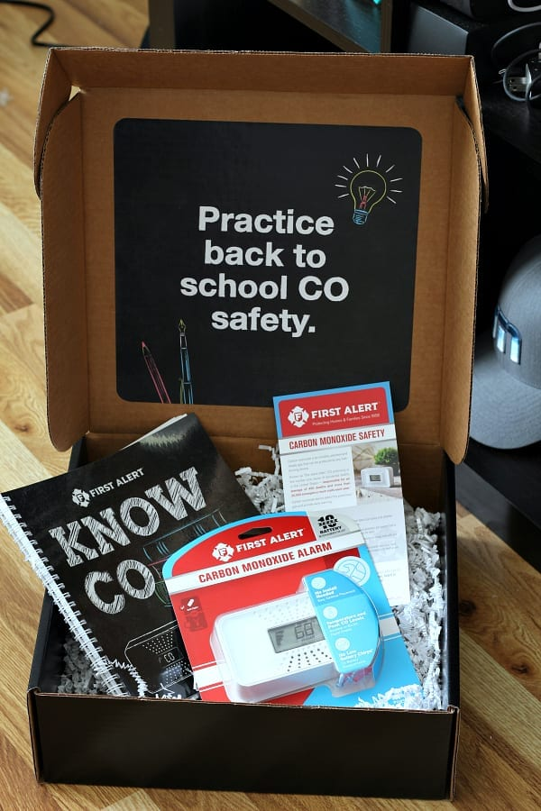 Back to school sagety with First Alert carbon monoxide alarm