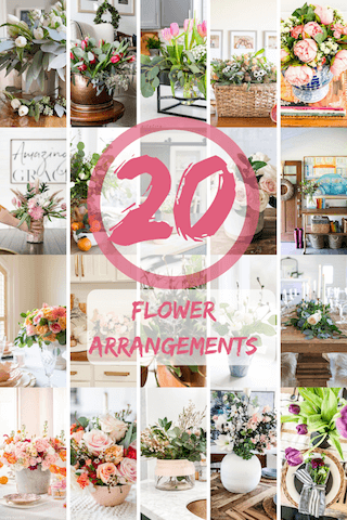 Come see 20 beautiful real & faux flower arrangements full or spring inspiration!