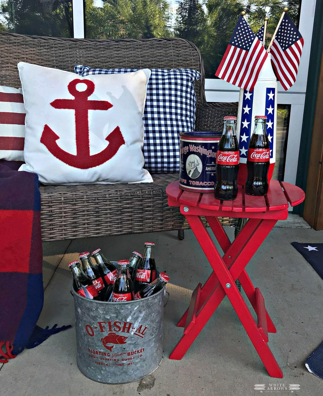 Welcome Home Saturday: Summer Style Patriotic Porch Decor