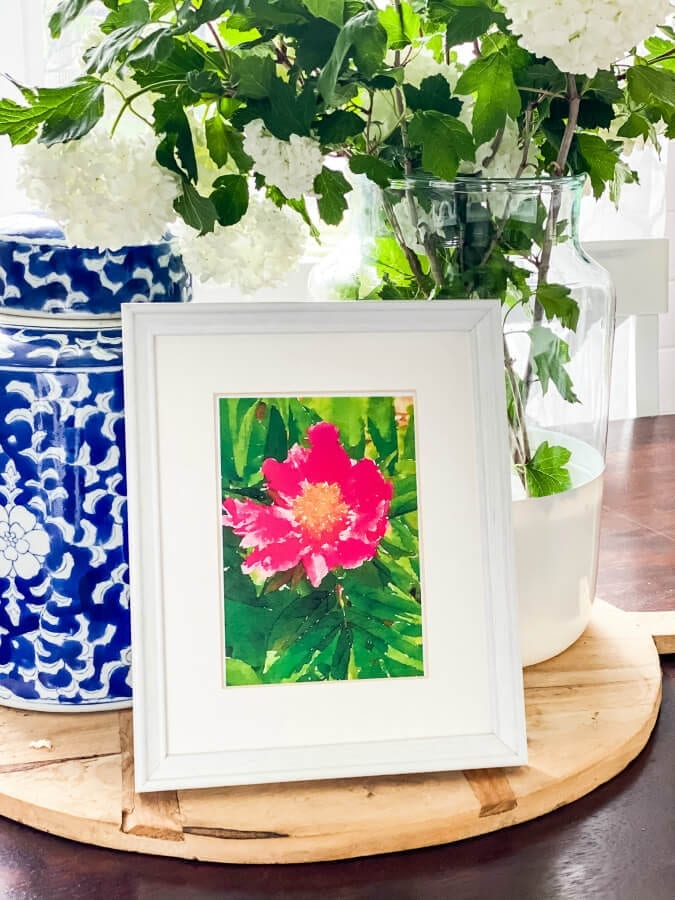 Welcome Home Sunday: Set of three free peony watercolor printables to use for summer decor!