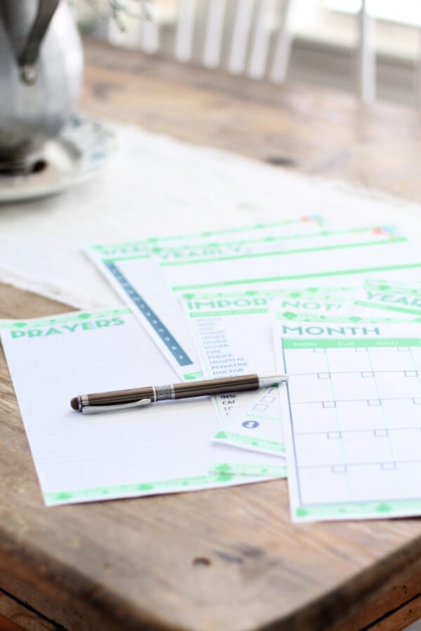 This free printable planner is not only helpful for organizing your days, weeks, months and years but it's beautiful too!