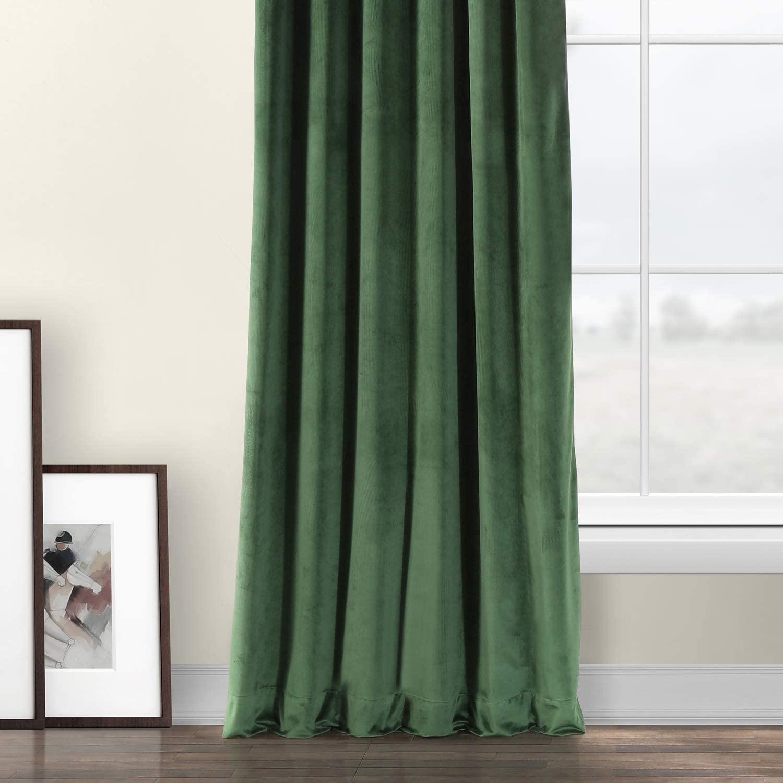 Eden Green velvet curtains from Amazon