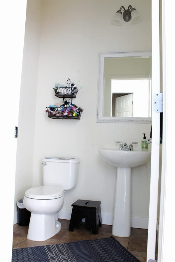 Our half bathroom BEFORE.