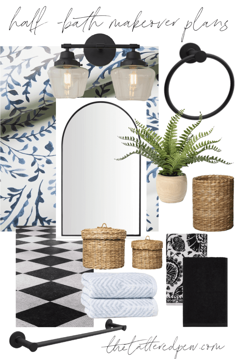 Half Bath Makeover Plans and Mood Boards