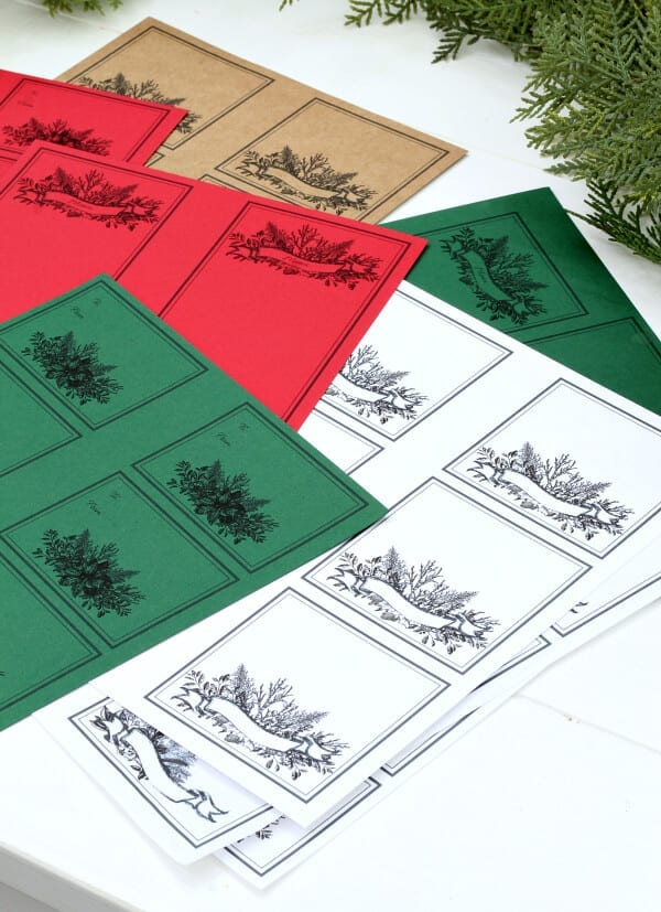 Free Holiday printables bundle: gift cards, menu cards, place cards