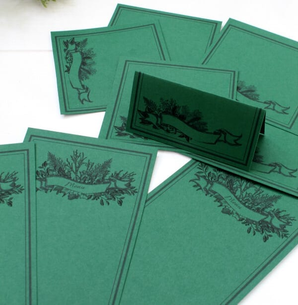 THis free holiday printables bundle is fun in many colors...especially green!