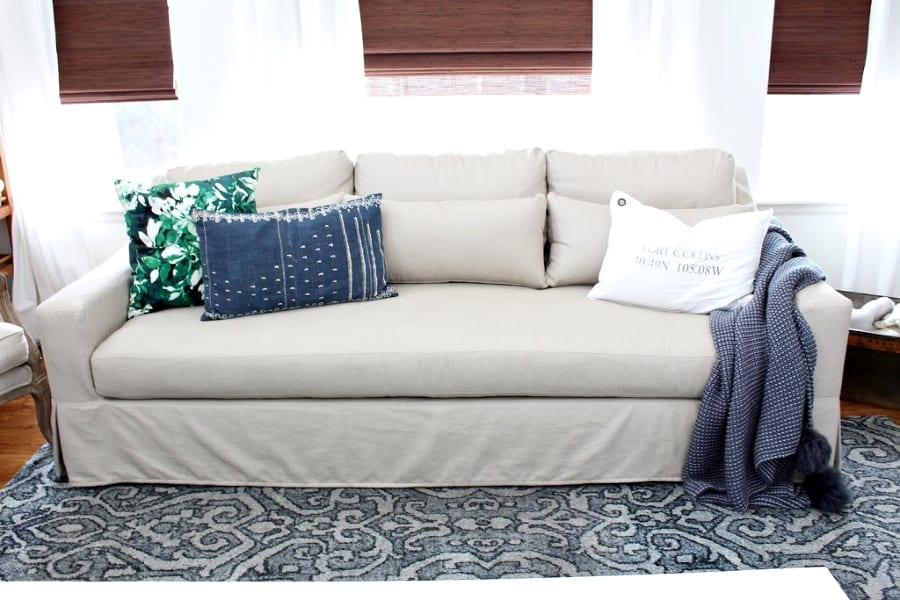 Pottery Barn Quilt Reviews: Honest Review: Pottery Barn York Slipcovered Sofa » The