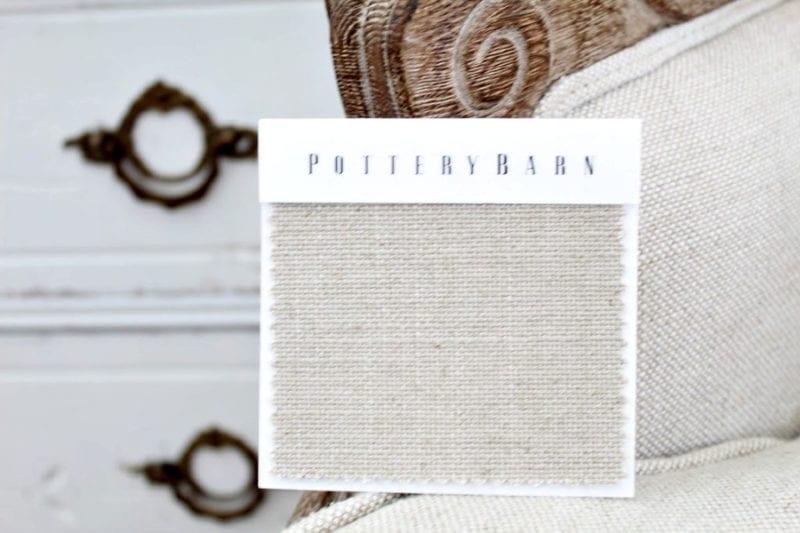 Performance Everydaylinen fabric from Pottery Barn.