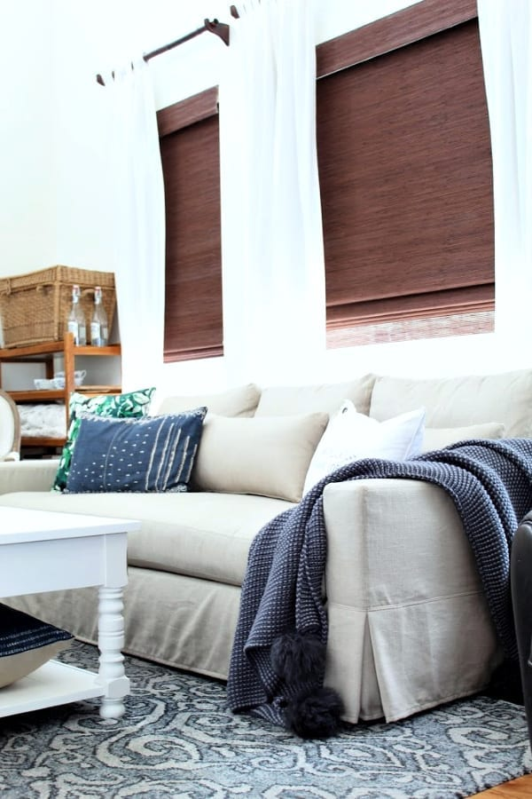 We are loving the comfort of our new Pottery Barn Sofa.