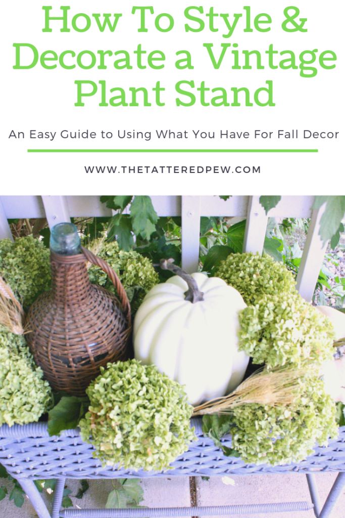 How to style and decorate a vintage plant stand with items you already have.