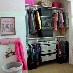 completed shared kids closet