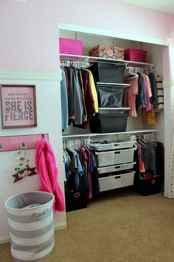 How to Easily Organize a Kids Shared Closet