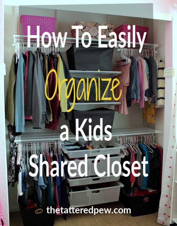 How to easily organize kids shared closet with help from The Container Store!