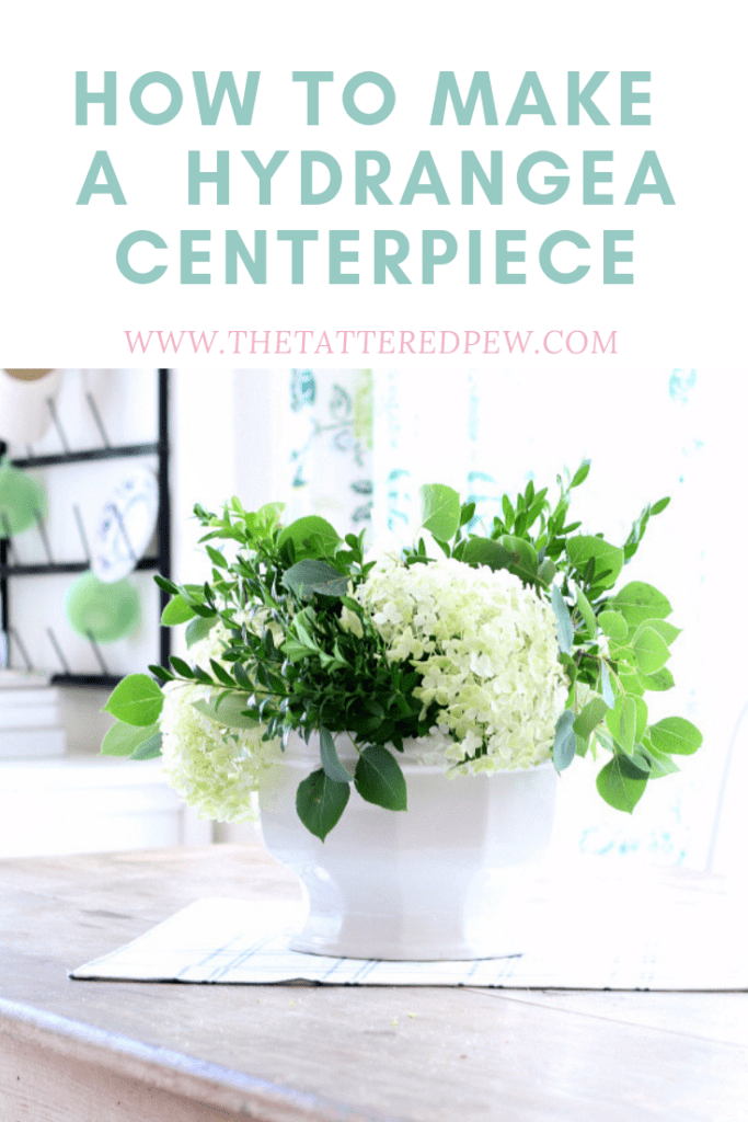 How to make a hydrangea centerpiece.