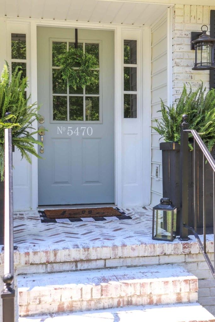 Welcome Home Sunday: Install Herringbone Brick Patio