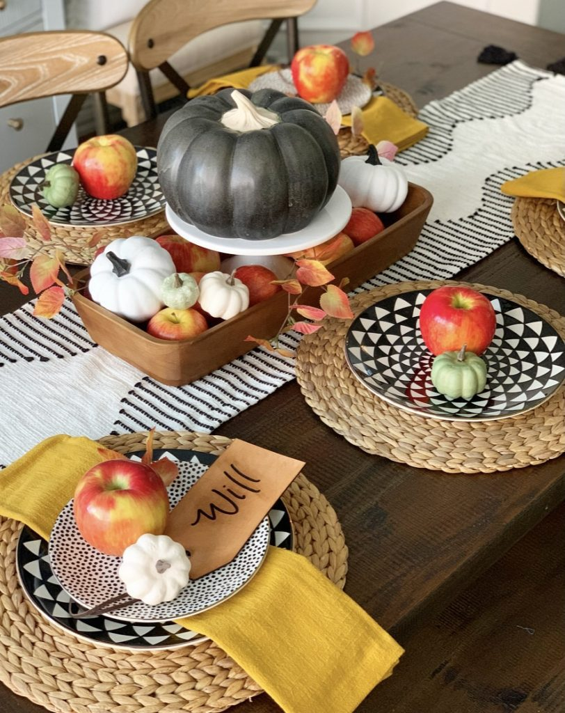 Welcome Home Saturday: Fall tablescape and kitchen finds