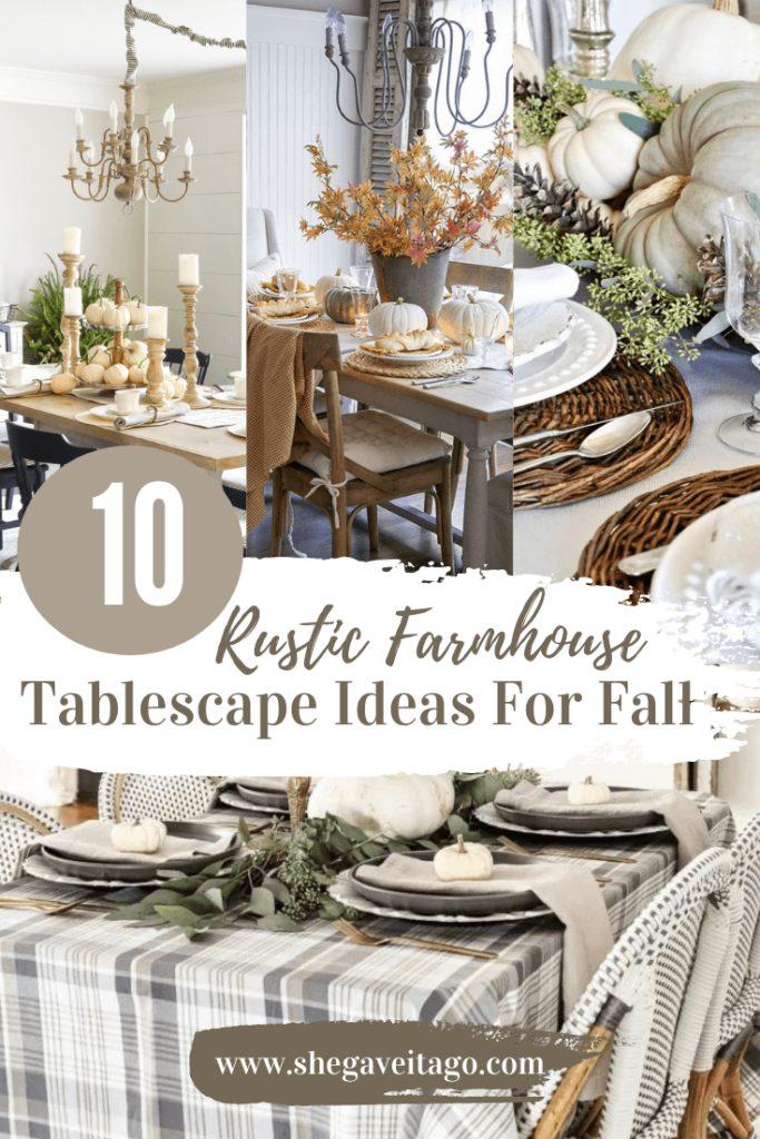 Welcome Home Saturday: Rustic Farmhouse Tablescape Ideas for Fall