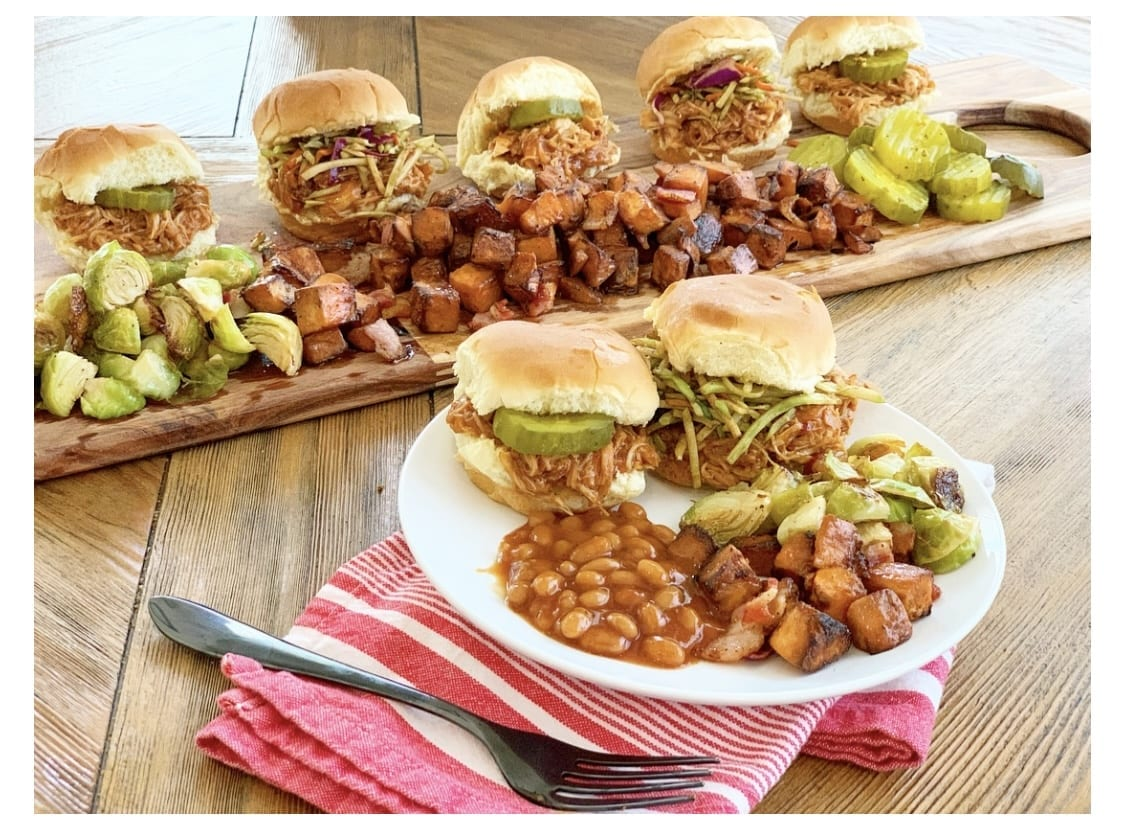 Welcome Home Saturday: Slow cooker BBQ Chicken Sliders