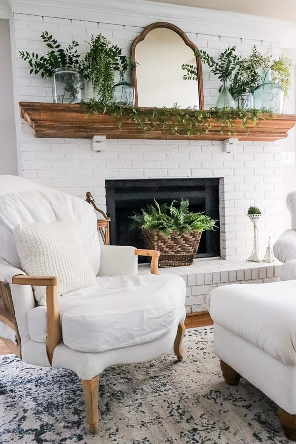 Welcome Home Sunday: Easy Summer fireplace update.