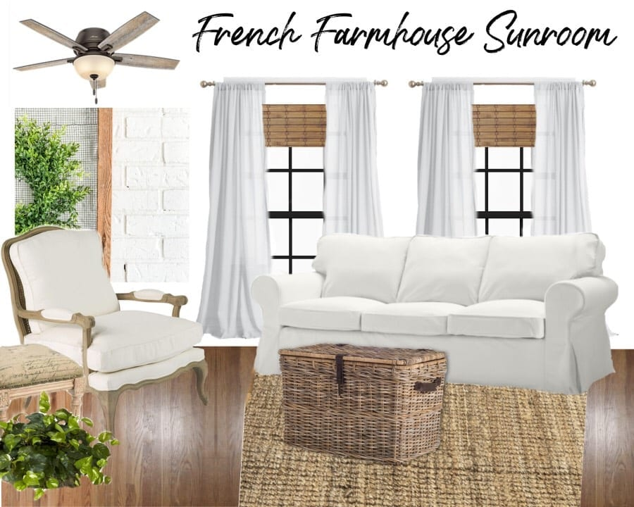 Welcome Home Sunday: French farmhouse sunroom plans