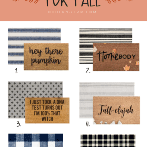 Welcome Home Sunday: Layered doormat ideas for Fall.