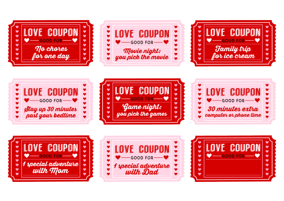 Love Coupons fromcatchmyparty.com