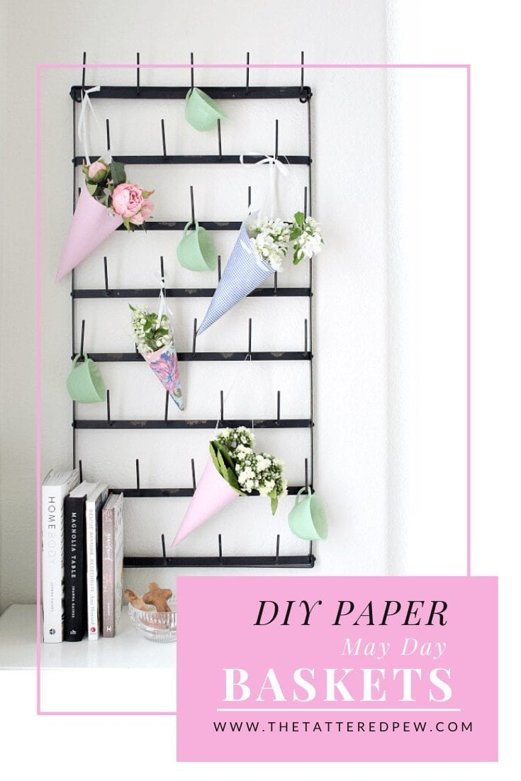 These DIY paper May Day Baskets are the perfect way to sprinkle around kindness.