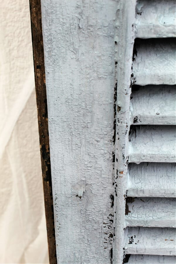 Milk paint offers that chippy vintage look I love!