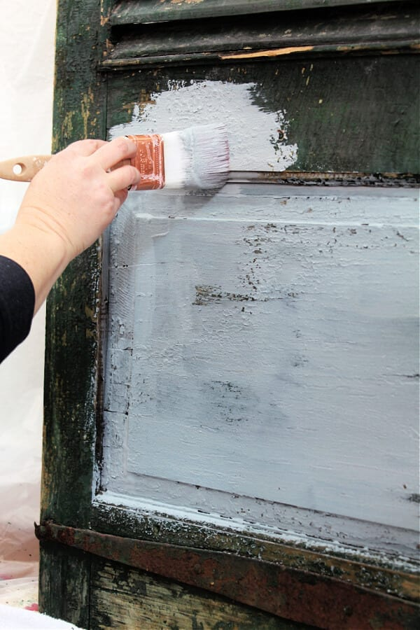 painted vintage shutters project