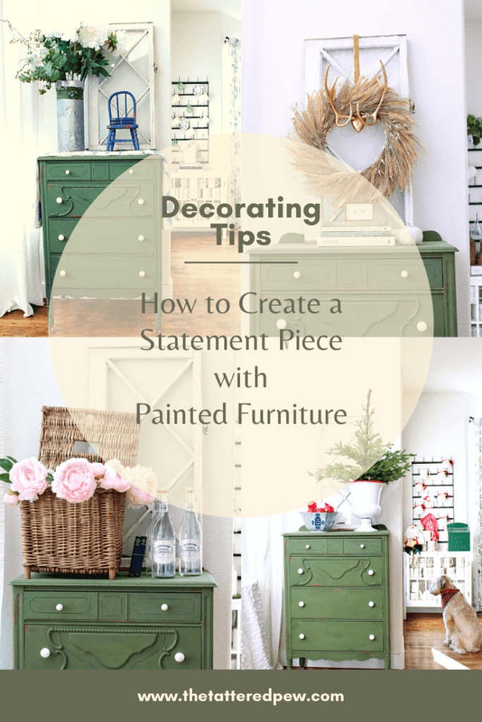 How to create a statment piece with painted furntiture: Featuring Boxwood green milk paint
