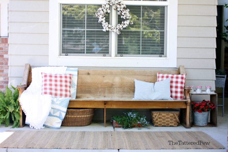 Our Patriotic Porch in 5 simple steps.