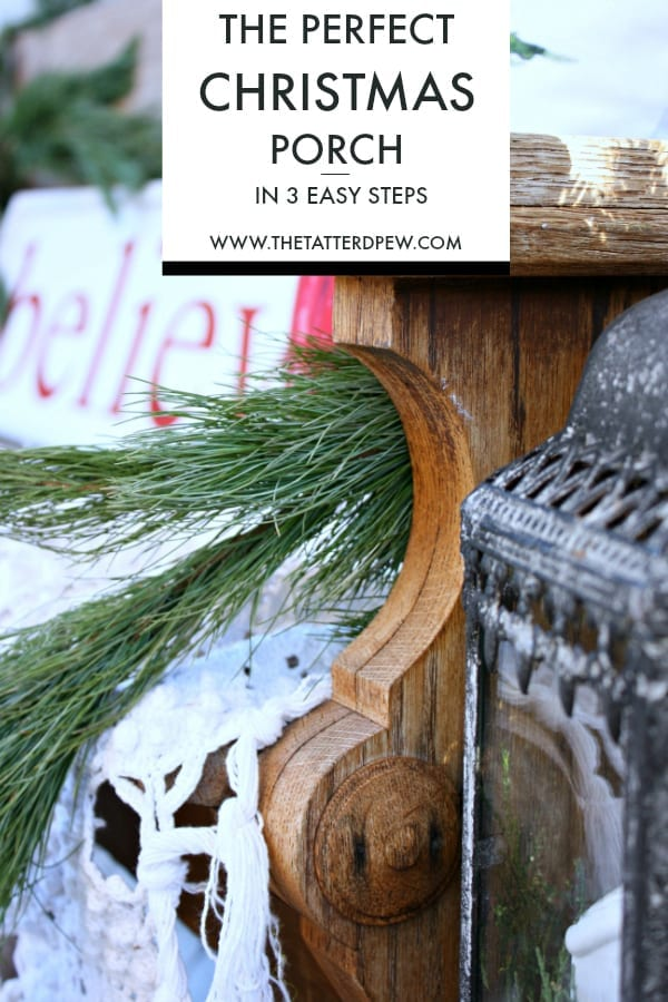 The Perfect Christmas Porch in 3 Easy Steps