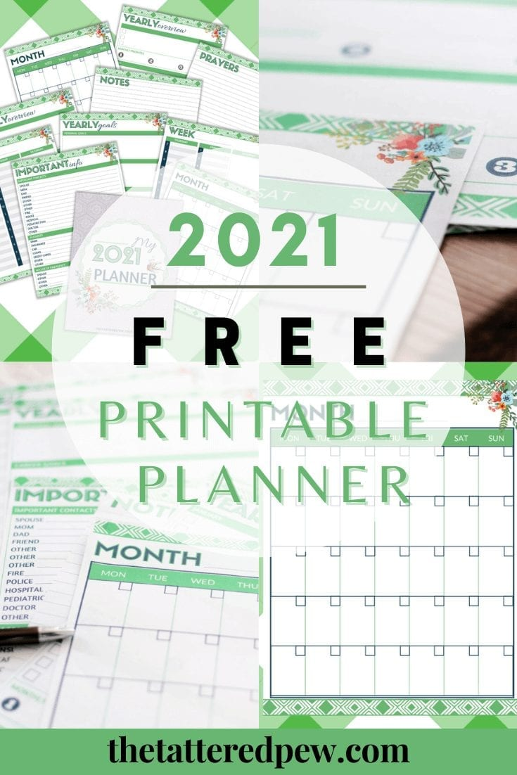 Free 2021 Printable Planner that you can download today!