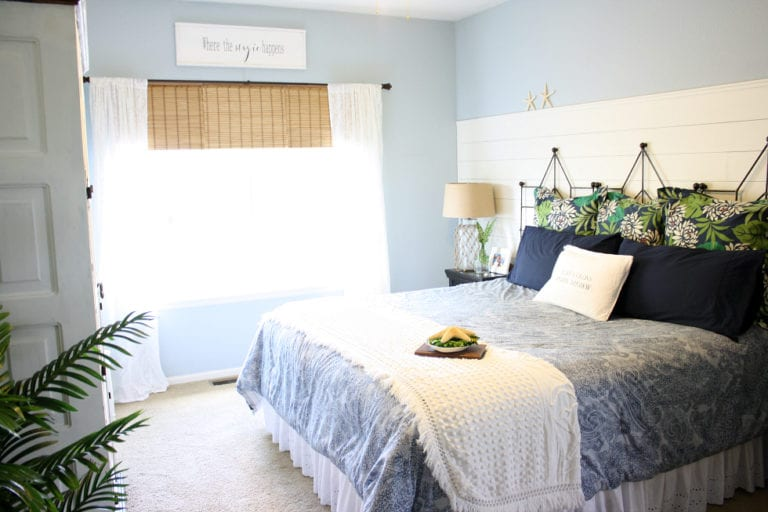 $100 Room Makeover: Coastal Master Bedroom Reveal