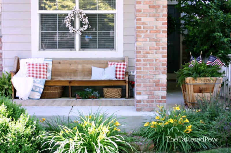 Our Patriotic porch!