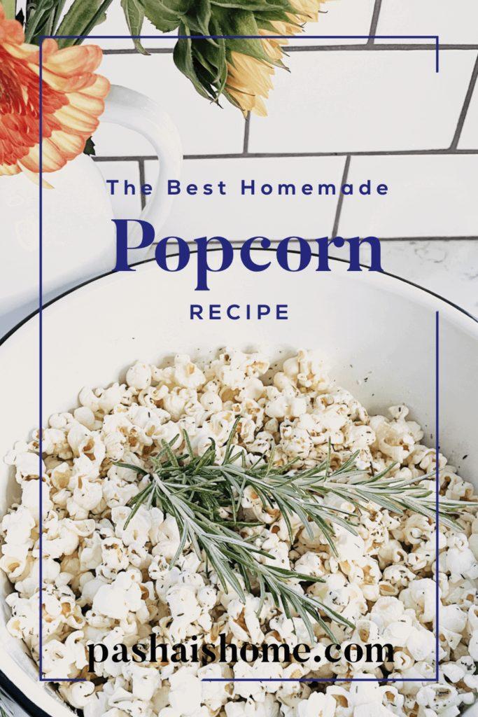Welcome Home Saturday: Stovetop Popcorn Recipe