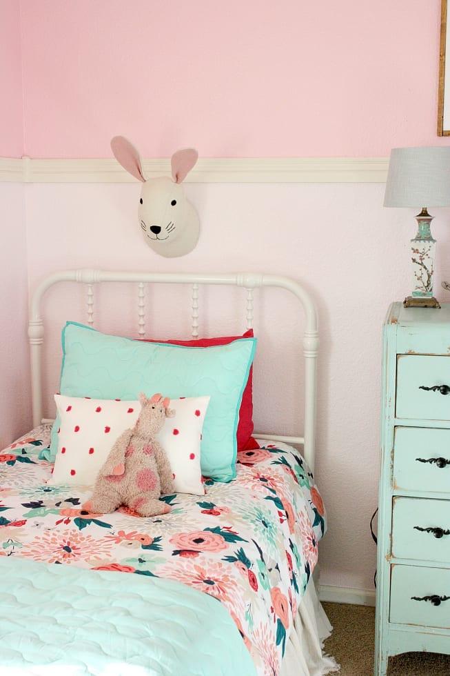 Girls floral bedding
