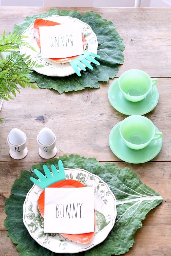 Rae Dunn and Jadeite Easter Tablescape