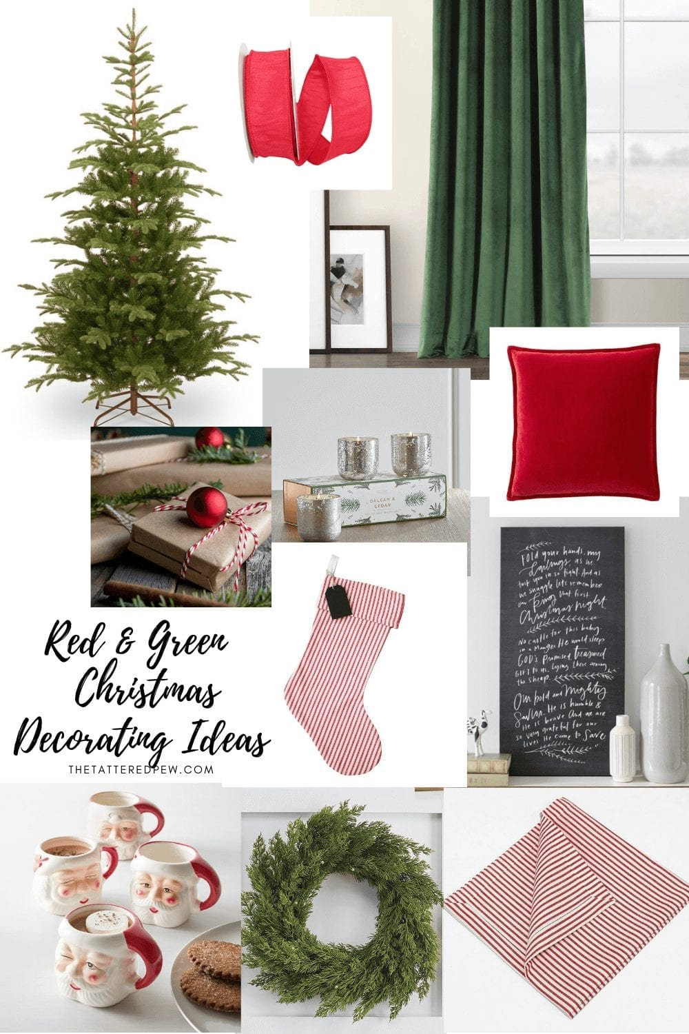 Red and Green Christmas decorating ideas!