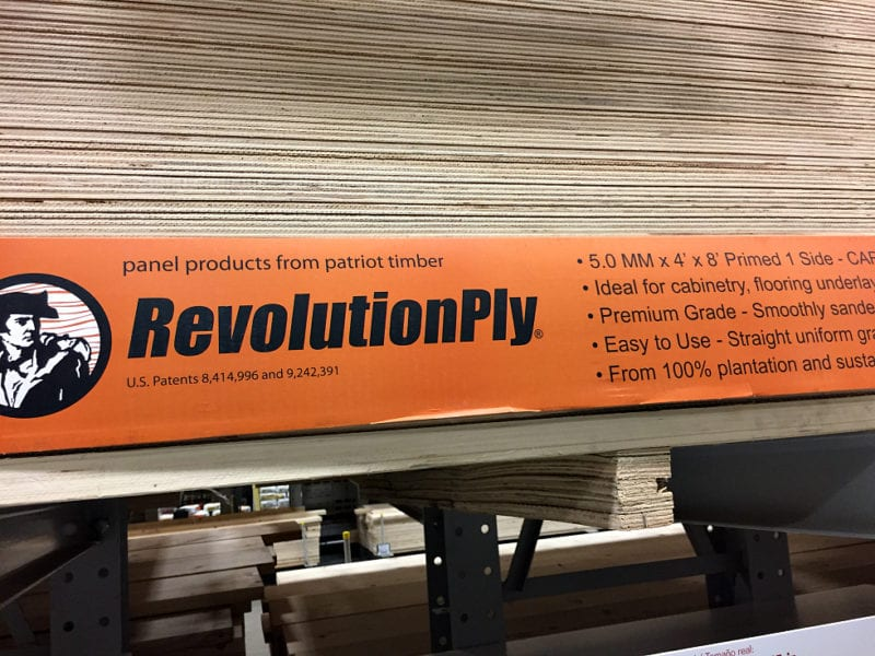 Revolution plywood from Lowes