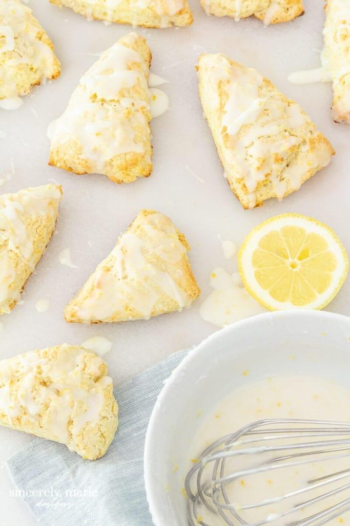 Welcome Home Sunday: Lemon Drop Scones
